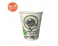 Картонена чаша Kas Black/Green Coffee