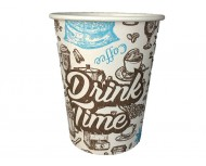 Картонена чаша Kas Drink Coffee time