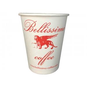Картонена чаша Bellissimo Coffee - white